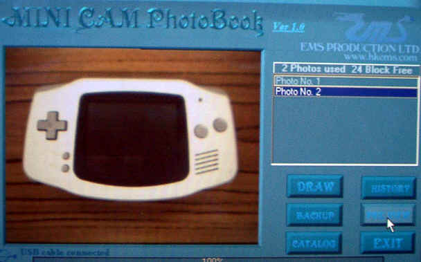 gameboy minicam photobook software